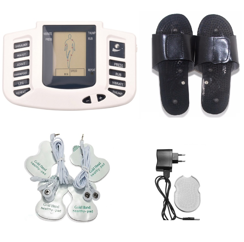 Electroestimulador Muscular for Body Relax Muscle Massager Pulse Tens Acupuncture Therapy Slipper+6 Electrode Pads+Retailbox фотоаппарат panasonic lumix dmc ft30 черный