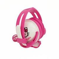 Fodabale Hello Kitty Cartoon Stereo Headphone With Mic For Mobile Phone 3 5mm Cartoon Earphone