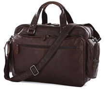 "Maxdo Big Large Capacity Vintage Real Genuine Leather Men  Briefcase Messenger Bags Travel Bags 15.6"" Laptop Bag #M7150"