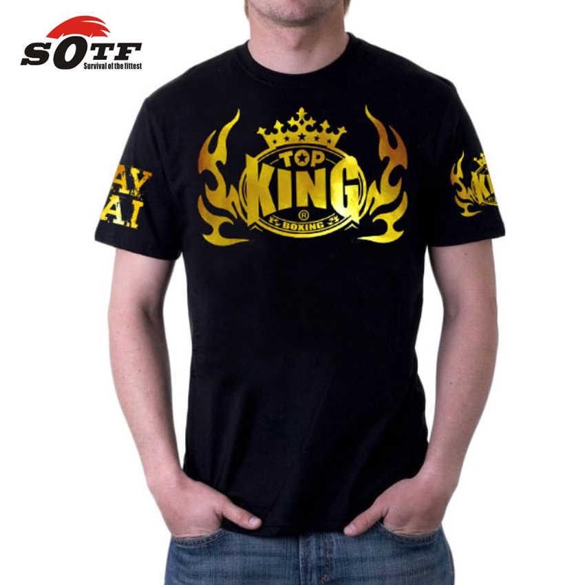Sotf mma masculino confortável, respirável camisola de algodão boxe sanda topo rei muay thai shorts kick boxing roupas muaythai