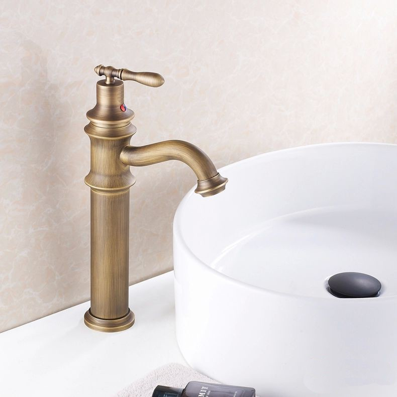 Bathroom Basin Mixer Taps Antique Brass Finished Hot&Cold Mixer Taps Deck Mounted Faucet AF1017
