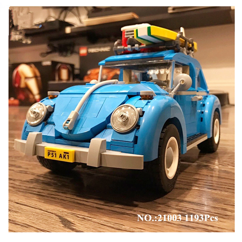 H&HXY Free Shipping 2017 New 21003 1193Pcs Volkswagen beetle LEPIN Model Building Kits  Bricks Toys Compatible with 10252 volkswagen new beetle 2005 2009 кабриолет
