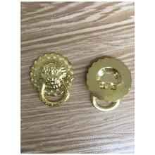 Tirador de puerta pequeño Vintage con cabeza de león, tiradores de armario de aleación de Zinc, tiradores de cajón de vestidor, 19*24mm, 4 Uds