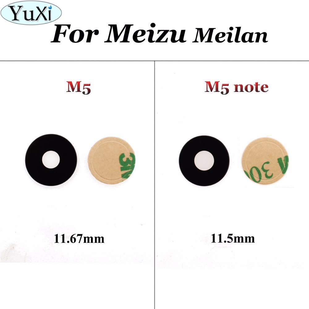 Yuxi Cover Meizu Camera Note Replacement-Spare-Parts Meilan M5 1pcs For Lens Glass Rear