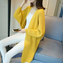 Long Cardigan Autumn Winter Long Sleeve Plus Size Cardigan Women Sweater Pockets Women Knitted Jacket coat Tops