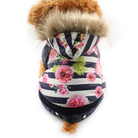 Armi Store Floral Fashion Winter Warm Dog Coat Dogs Stripe Coats Pet Jackets 6141028 Ppuppy Clothes