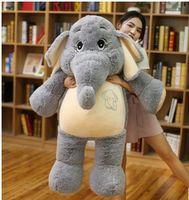 Мягкие сливочное игрушки мультфильм слон плюшевые игрушки огромный 125 см Серый Слон Мягкая кукла подушку подарок на день рождения w1900