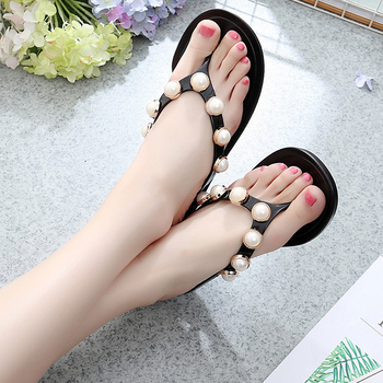 Jelly Sandals with Pearls 5