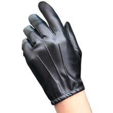 Autumn And Winter PU Leather Gloves Men Thin Section Driving Motorcycle Non-Slip Full Touch Screen PM014PN-5