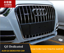 ABS Chrome Car Front Grille Cover Trim Car Front Grille Racing Cover Decoration Trim For Audi