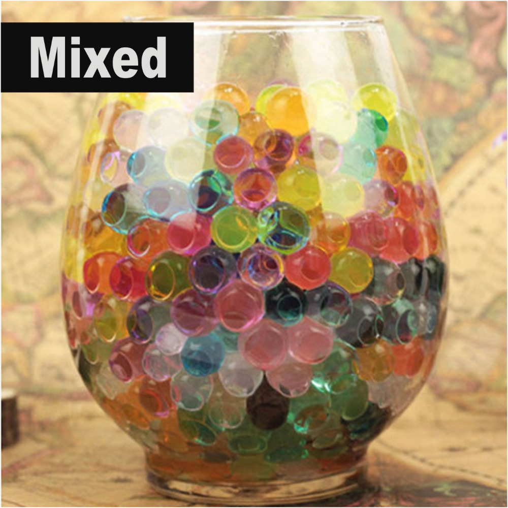 10g Pearl shaped Crystal Soil Water Beads Mud Grow Magic Jelly balls wedding Home Decoration Table Flowers Decorations