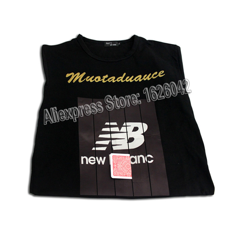 XF Black T-shirt Poker Cheat Device Clothes Poker Exchanger Gambling Cheating Devices