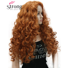 Strongbeauty grosso longo camadas cachos nenhuma parte peruca sintética completa perucas femininas opções de cor