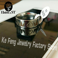 Drop Shipping EST JEWELRY Hot Sales 8MM Silver Pipe Kingdom Hearts & Crowns Mens Love the ring Wedding Ring Stainless steel