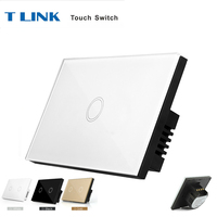 TLINK US Standard 1 Gang Wireless Touch Switch Smart Home Wall Touch Switch With Remote Controller