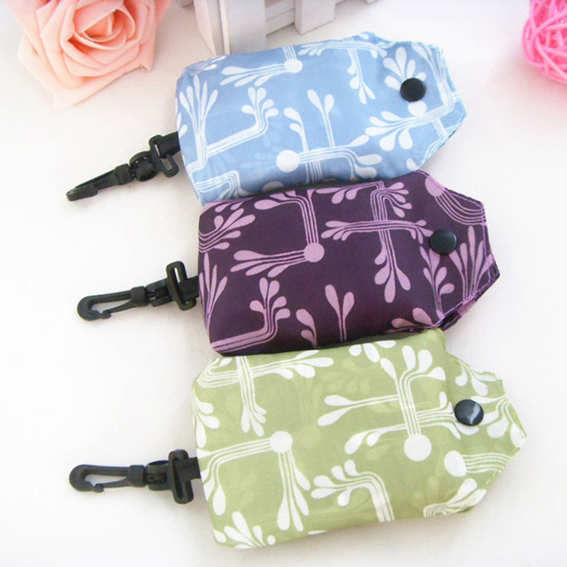 Functional Bags Shopping Bags Sincere 1pc Nylon Folding Portable Shopping Handbags Holiday Laundry Bags Floral Printing Reusable Large Women Shoulder Shopping Bags