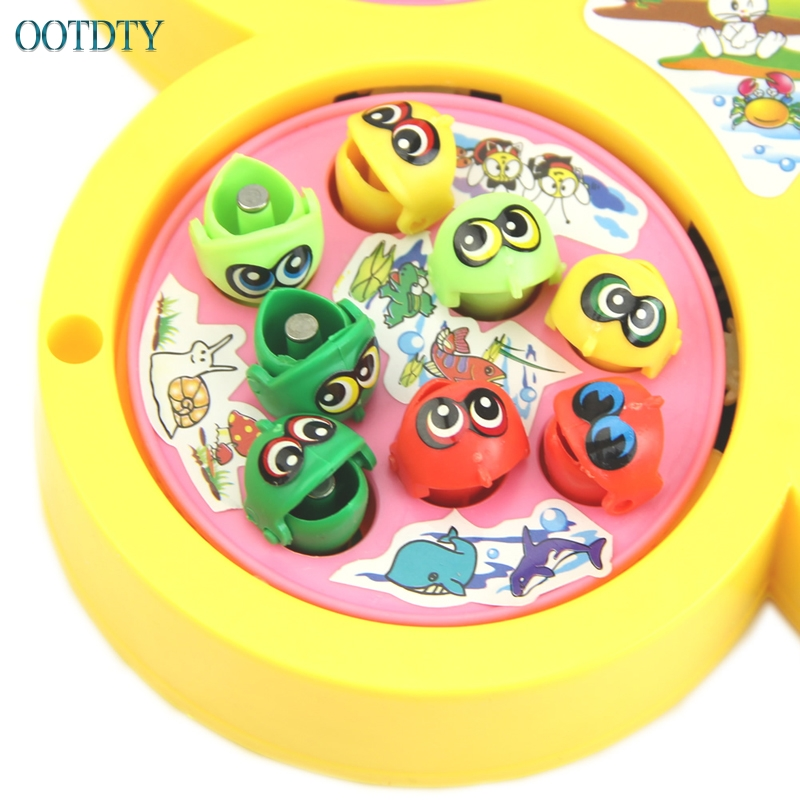 Toys & Hobbies Gift Electric Rotating Magnetic Magnet Fish Kid Educational Toy Go Fishing Game Outdoor Fun & Sports