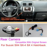 For Suzuki SX4 SX 4 SX 4 Hatchback / RCA & Original Screen Compatible / Car Rear View Camera Sets / HD Back Up Reverse Camera