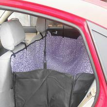 Pet Dog Car Trunk Seat Cover Non-slip Waterproof Hammock Protector Puppy Mat Safety Outdoor Travel Print