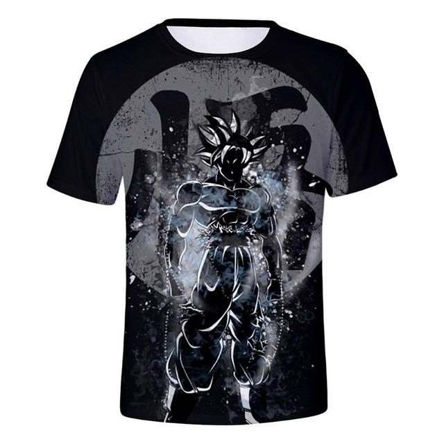 New Dragon Ball Z T-shirts Men's Summer 3D Print Super Saiyan Son Goku Black Vegeta Battle Dragonball Casual T Shirt Tops Tee