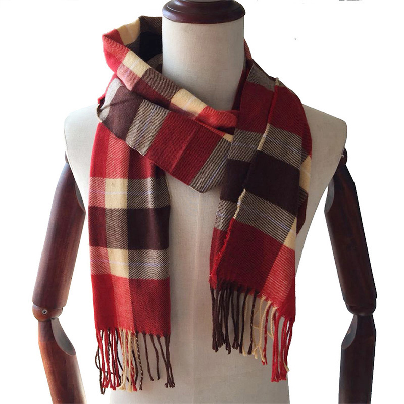 JUNGLE ZONE Winter Scarf 2018 Cashmere Scarf Plaid Blanket Scarf New Designer men wool plaid bandana Scarves and Wraps WJ12 plaid