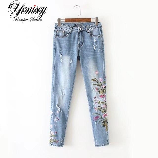חן, 60-1628, אירופה ובאמריקה אופנה רוח, חרצית רקום ג 'ינס 0606