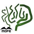 9 stücke Original Logo Kühlmittel Kühler Silikon Heizung Schlauch Kit für Civic K6 SOHC D16 D15 EG6 92 ~ 97 grün auf