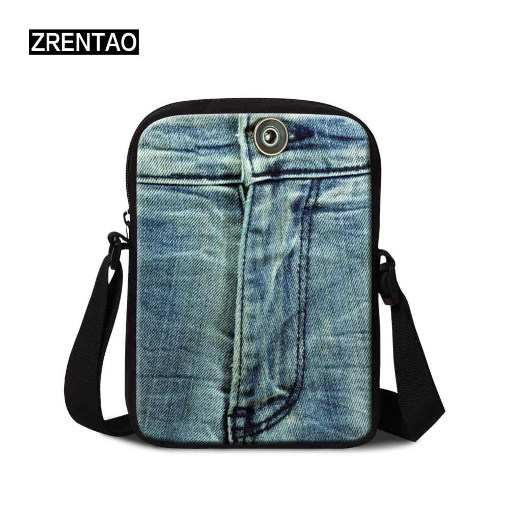 DropShipping Denim Casual Small Business Travel Mini Bag Bolsa Mens Messenger Bags for Women Shoulder Bag Crossbody Clutch Purse