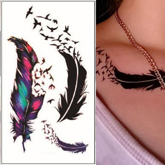 10.5x6 Cm 1 Hoja De Etiqueta Engomada Del Tatuaje De
