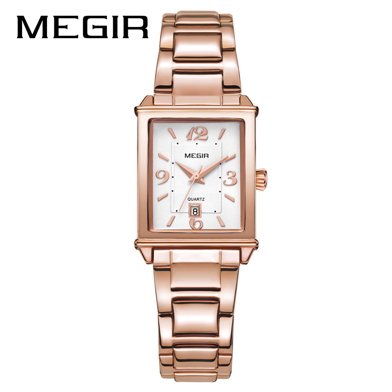 MEGIR New Stainless Steel Watches for Women Waterproof Calendar Fashion Ladies Watch Free Shipping