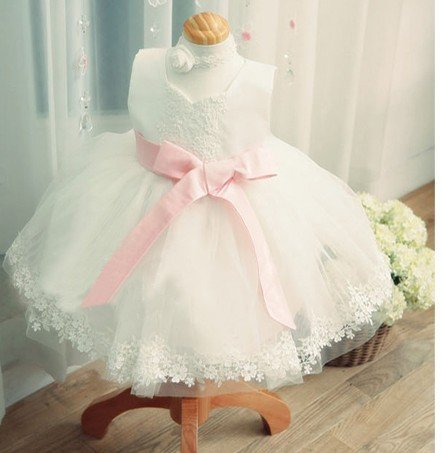 Child Princess Dress Performance Clothing Flower Girl Baby First Birthday Installed A Gift Children Wedding