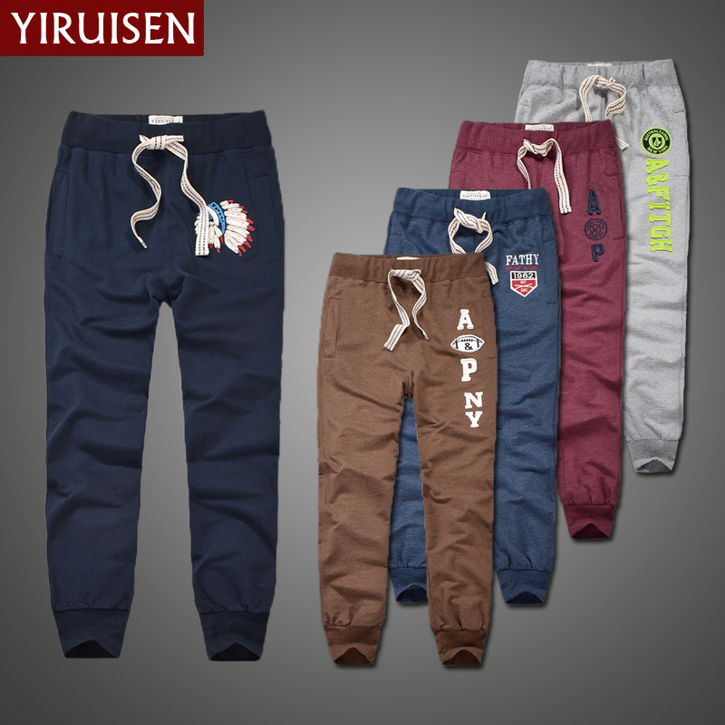 Wholesale Top Quality YiRuiSen Brand 100% Cotton Trousers For Men Patchwork Casual Long  Pants Mens Autumn Clot
