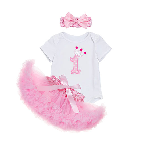 3pcs Tutu Skirt Clothing Sets Baby Girls Romper Pettiskirt Tulle Skirts Clothes Infant Jumpsuit Princess Birthday Party Costumes