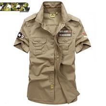 Мужские военные уличные походные рубашки, армейские спортивные хлопковые дышащие рубашки, новые рабочие Свободные Мужские дышащие летние рубашки для кемпинга