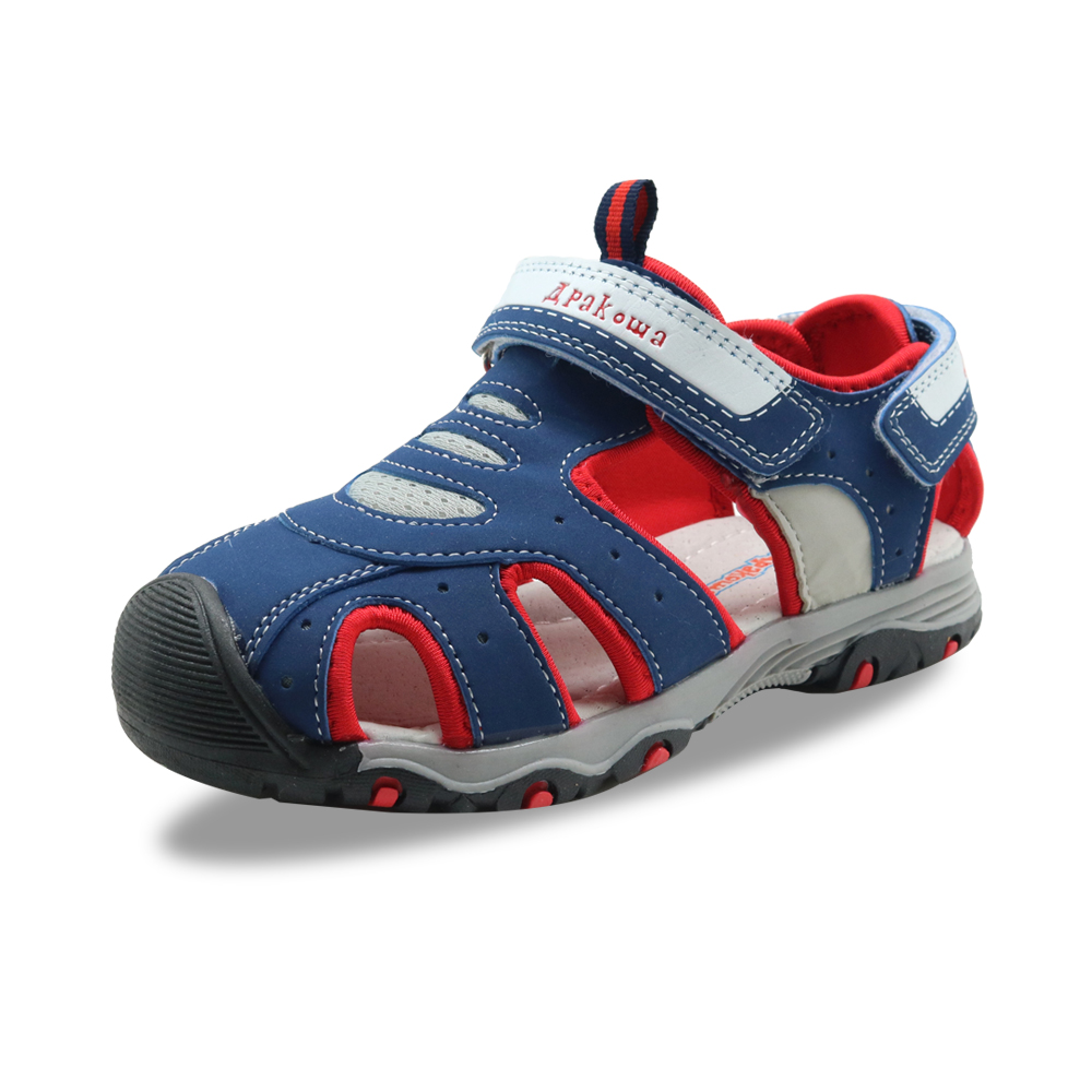 Image 2 - Apakowa Little Boys Closed Toe Summer Sports Gladiator Sandals Kids Quick Drying Hook and Loop Pool Beach Walking Shoes for BoysSandals   -