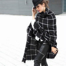 major Winter 2016 Tartan Scarf Desigual Plaid Scarf cuadros New Designer Unisex Acrylic Basic Shawls Women's big size Scarves