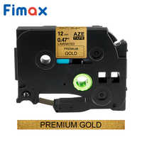 Fimax 1 pack Pattern Multicolor for tze-231 tze231 12mm Black on white Tape tze 231 tz-231 for brother p-touch printer tze-131