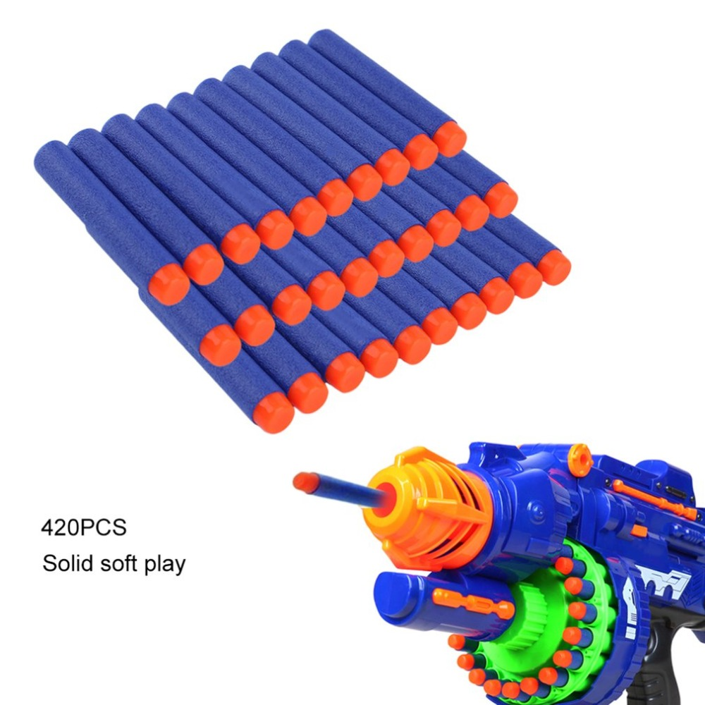 Lightweight Soft Gun Air Gun Bullets Darts EVA Solid Bullet Darts For NERF N-Strike Series Blasters Kid For Toy Gun