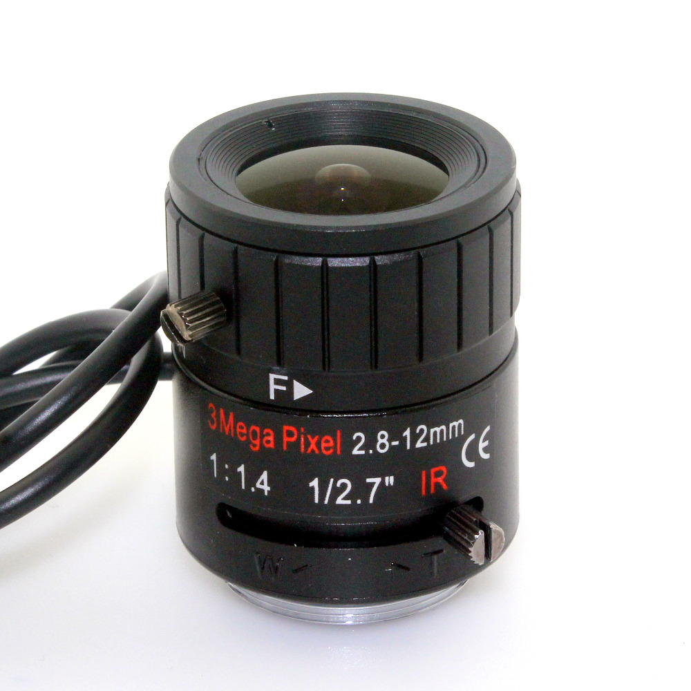 Image 3 - 3MP 2.8 12mm HD 3.0megapixel Auto Iris varifocal IR metal CS CCTV lens,F1.4, for Security cctv camera-in CCTV Parts from Security & Protection