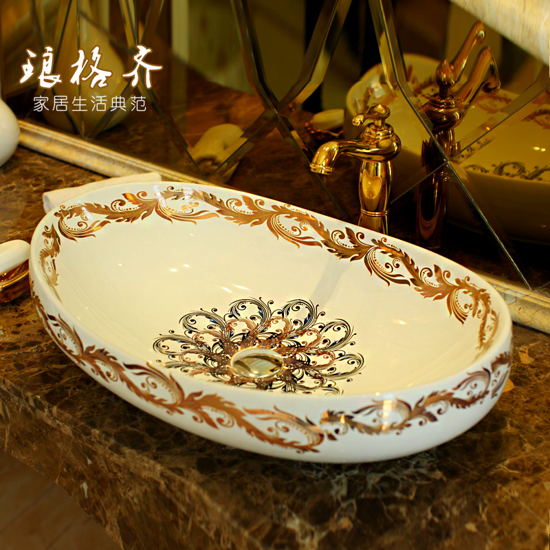 elliptic basin ceramic wash basin, art basin Feng Yuelliptic basin ceramic wash basin, art basin Feng Yu