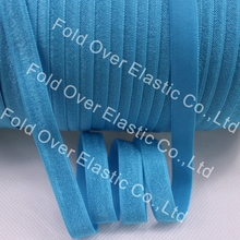 "Hot sell 3/8"" Solid No Fold Elastic 150 Yards of 3/8 inch FOE Elastic 317 Misty turquoise For DIY Headband Hair Accessories"