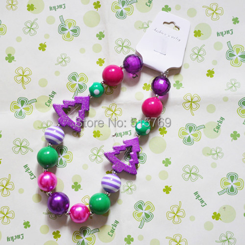 Free Shipment 2PCS/Lot Wholesale child/kid/girl bead chunky bubblegum necklace for charming DIY jewelry decoration! ...