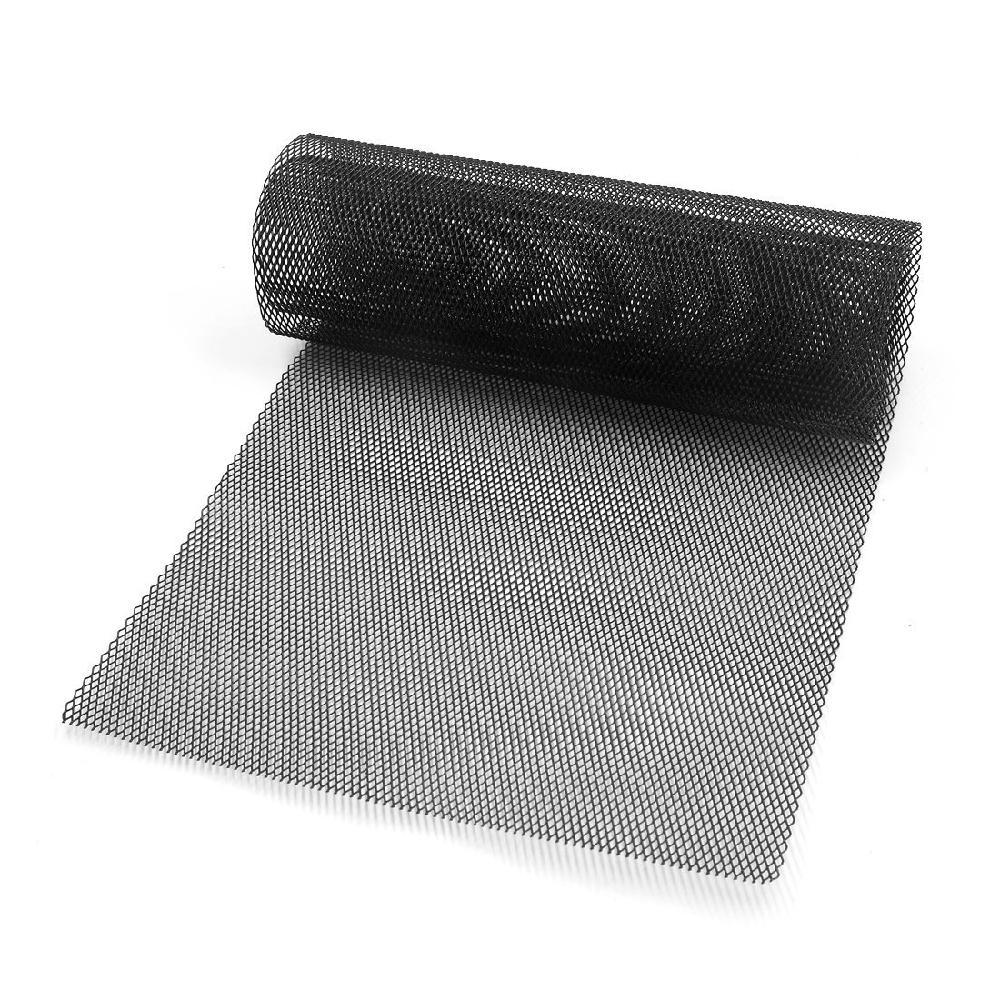 LumiParty 자동차 차량 블랙 톤 알루미늄 합금 3x6mm Rhombic Grille Mesh Sheet 범퍼 바디 키트 펜더 r30 용 범용 맞춤