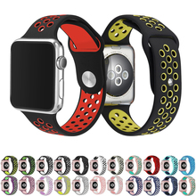 Sport strap for apple watch band 4 42mm 38mm correa silicone watchband for iwatch strap 44mm 40mm 3/2/1 rubber bracelet belt стоимость