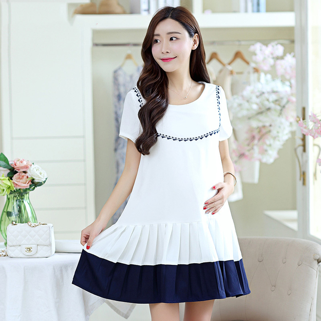 ed6c37c91 Las mujeres de maternidad del verano dress para las mujeres embarazadas ropa  de maternidad coreano desgaste