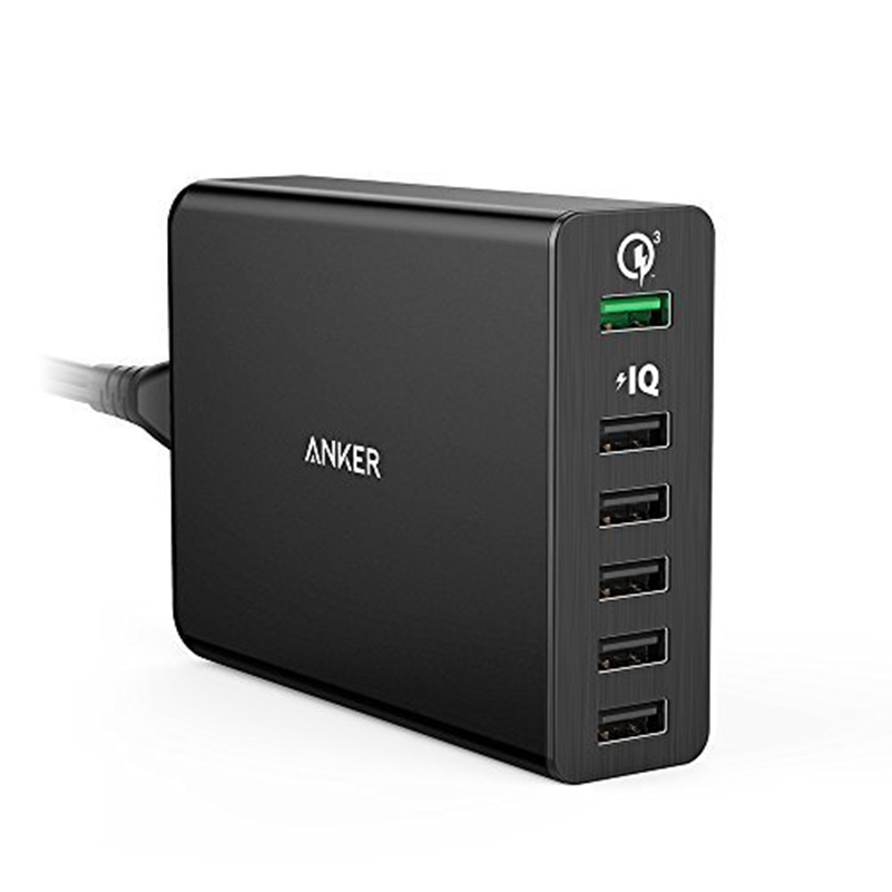Quick Charge 3 0 Anker 60W 6 Port USB Charger Quick Charge 2 0 Compatible