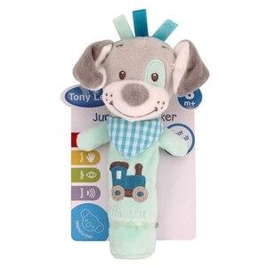 Image 2 - 新生児ガラガラリングベルベビー漫画の動物ガラガラかわいいぬいぐるみ動物の手の鐘幼児早期教育の人形のおもちゃ Y13