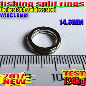 Image 5 - Anillos divididos de pesca, accesorios de pesca de 4,5 MM    17,2 MM cantidad: 100 unids/lote de acero inoxidable de alta calidad 304 ¡elija tamaño!