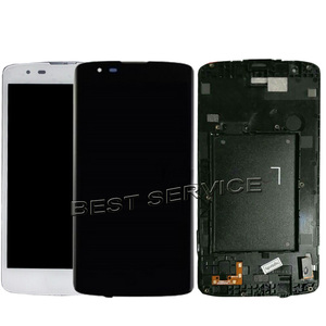 Image 3 - Fast Ship Stock LCD For LG K8 LTE K350 K350N K350E K350DS 2016 LCD Display + Touch Screen Digitizer sensor glass frame Assembly