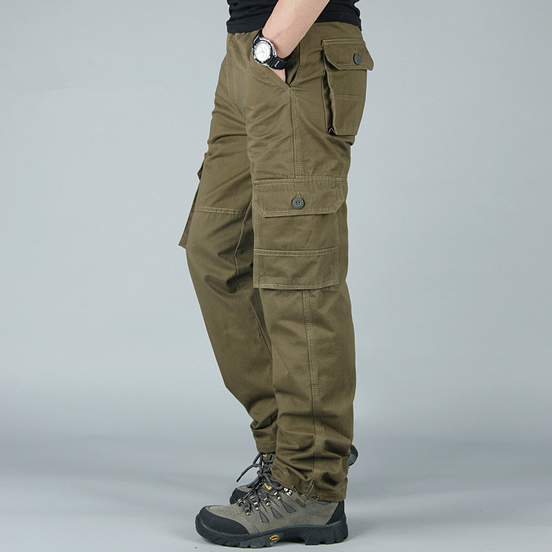 Casual Loose Tactical Pants Men Cargo Pants Combat SWAT Active Army Military Pant Male Cotton Work Trousers Mens Joggers 4XL